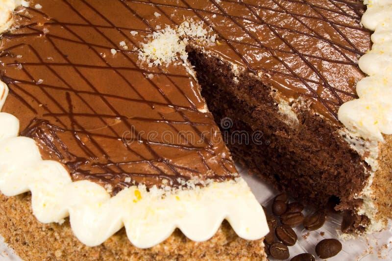 кофе шоколада торта фасолей стоковая фотография rf