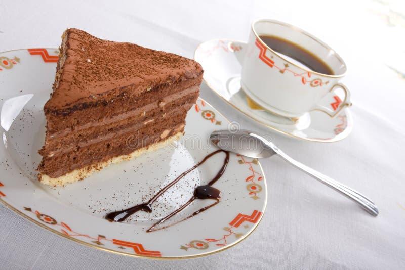 кофе шоколада торта стоковое изображение rf