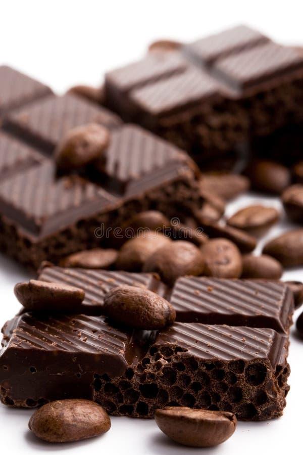 кофе шоколада фасолей черный стоковые фотографии rf