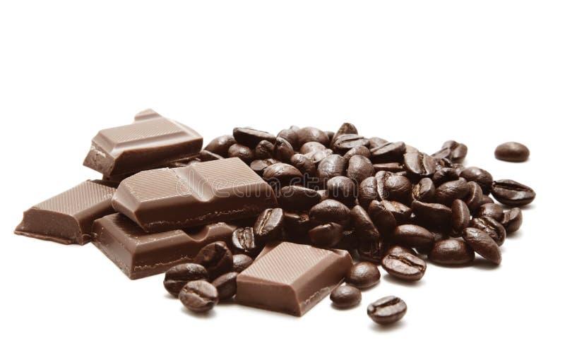кофе шоколада фасолей стоковое фото rf