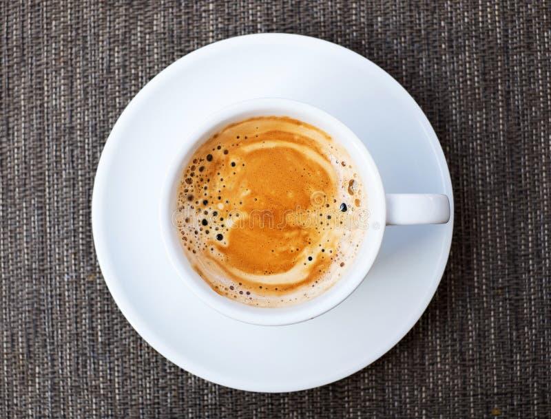 Кофе эспрессо, взгляд сверху стоковое фото
