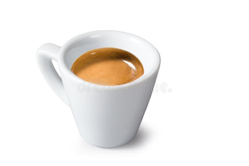 """Кофе эспрессо – """"эспрессо Caffè """"на белой предпосылке стоковое фото rf"""