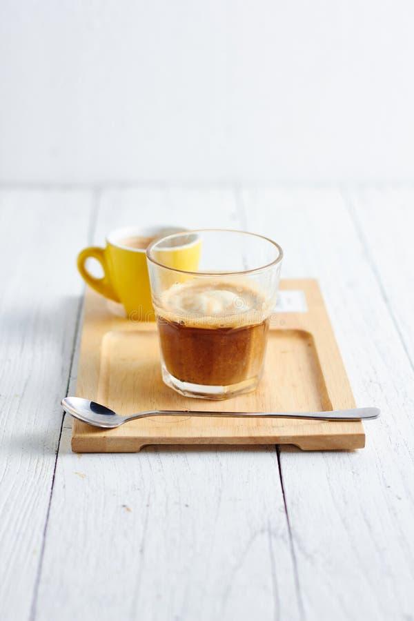 Кофе Affogato с мороженым стоковые фото