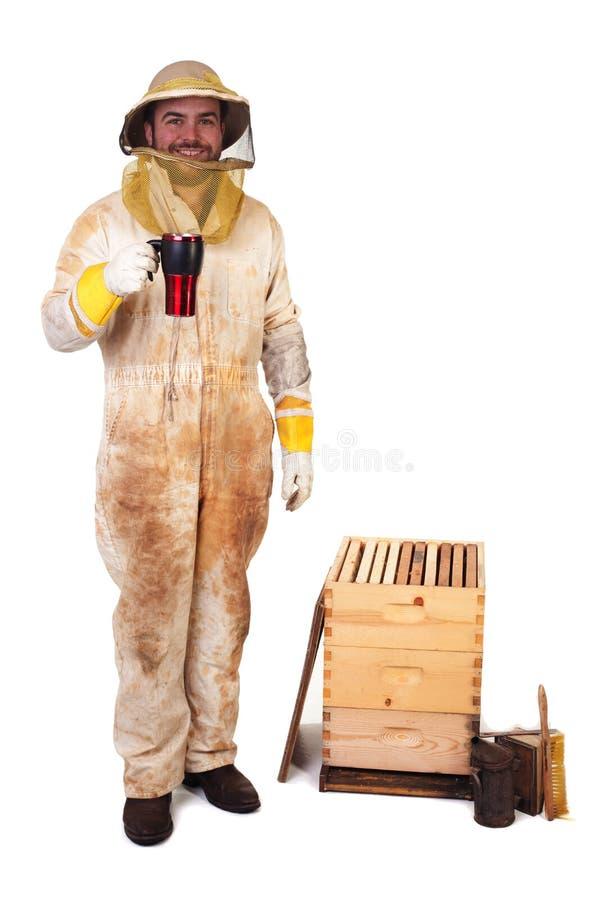 кофе beekeeper его стоковая фотография rf