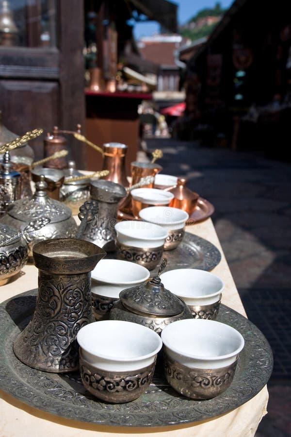 кофе dishes сараево стоковая фотография