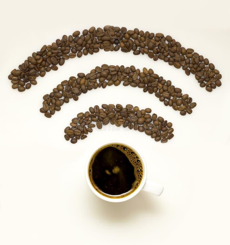 Кофе Wi-Fi стоковое изображение