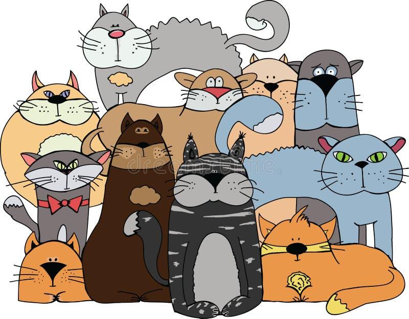 Кошки иллюстрация штока