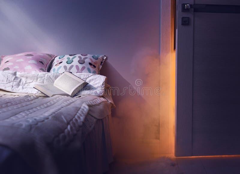 Кошмар после читать стоковое изображение