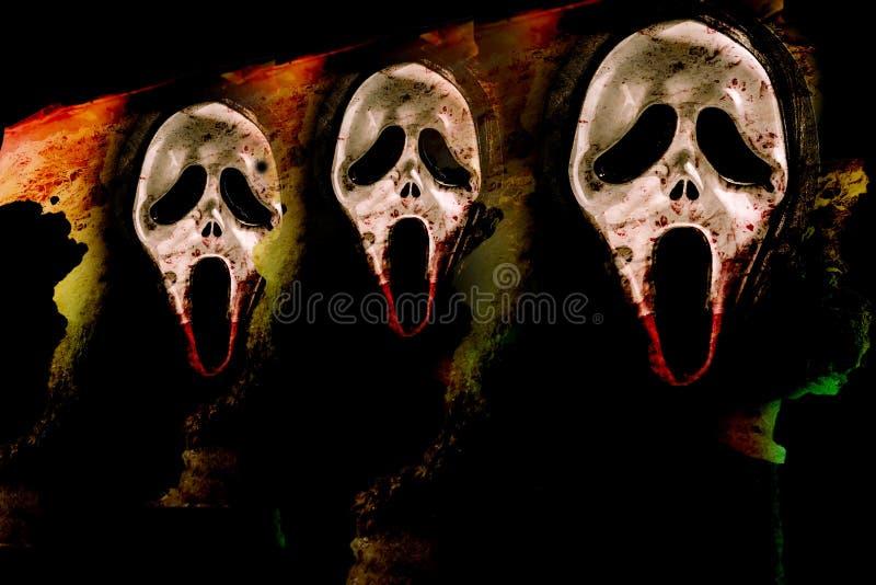 Кошмар с маской кричащей иллюстрация штока