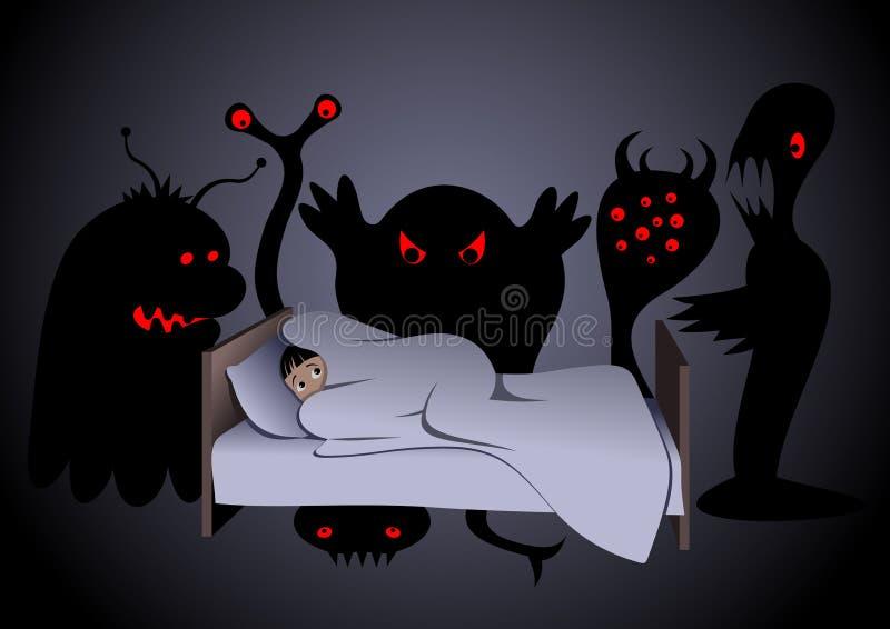 кошмар иллюстрация штока