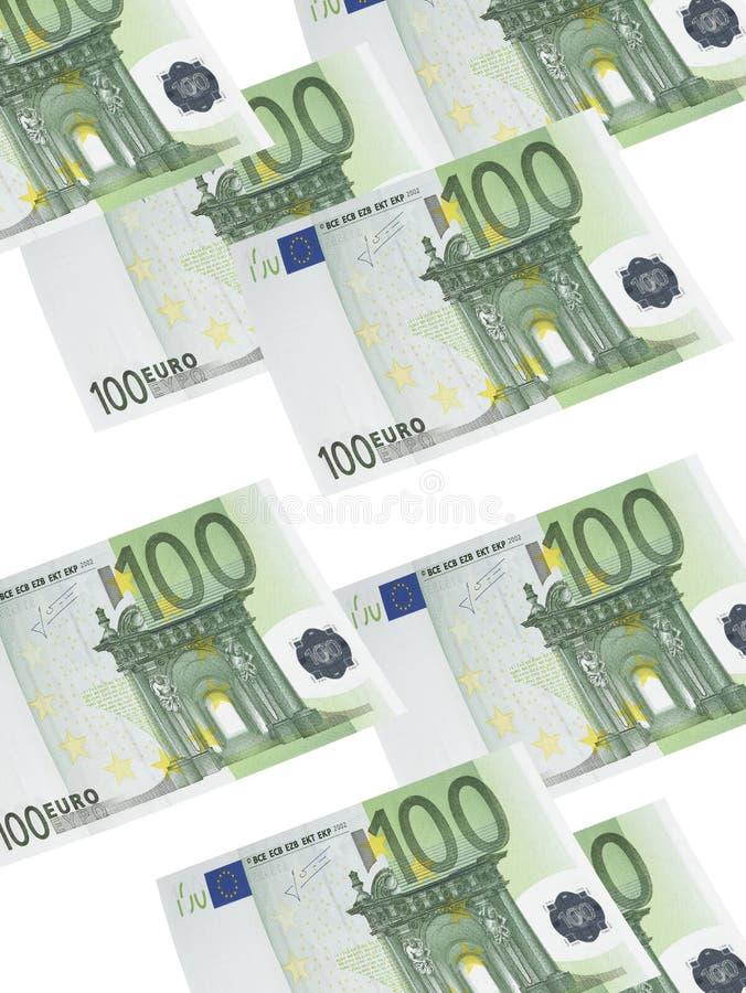 100 коллажей счета евро изолированных на белизне бесплатная иллюстрация