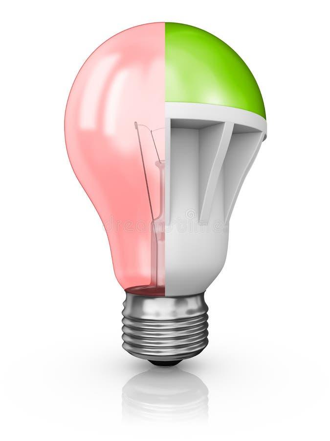 Коллаж ламп иллюстрация вектора