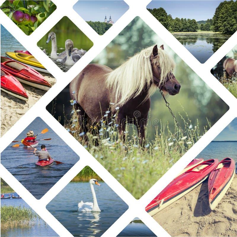 Коллаж изображений Suwalki (Польши) - путешествуйте предпосылка (мое фото стоковая фотография