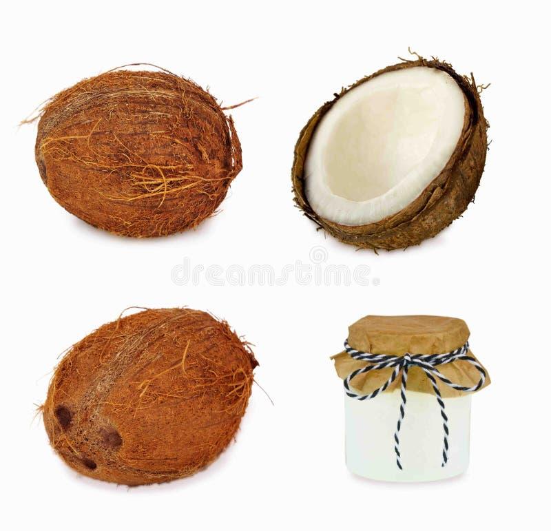 Коллаж кокоса стоковое фото