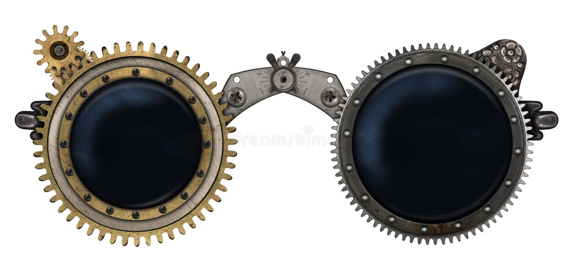 Коллаж металла стекел Steampunk бесплатная иллюстрация