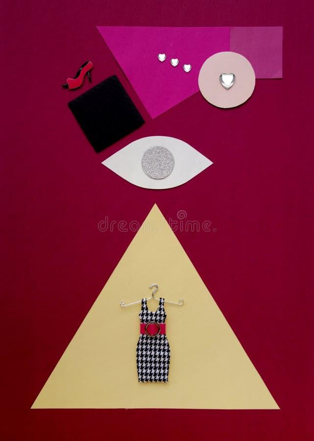 Коллаж моды концепции покупок стоковая фотография