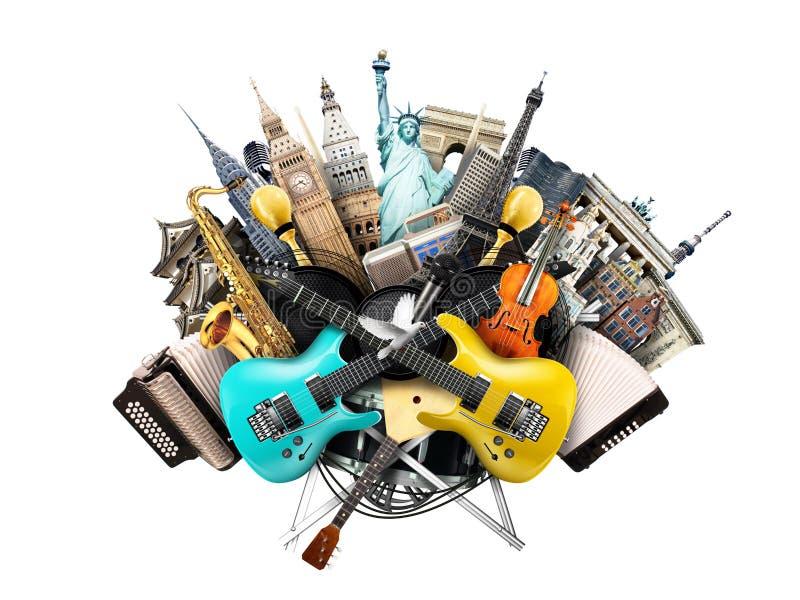 Коллаж музыки стоковые изображения rf