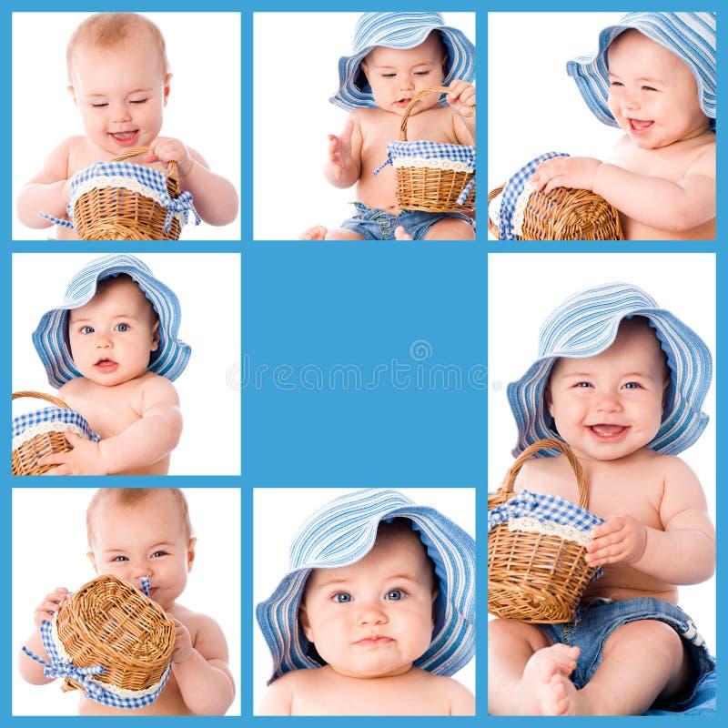 Коллаж младенца стоковое фото rf