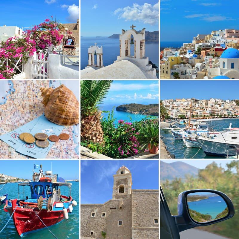 Коллаж на теме перемещения Греции стоковые изображения rf