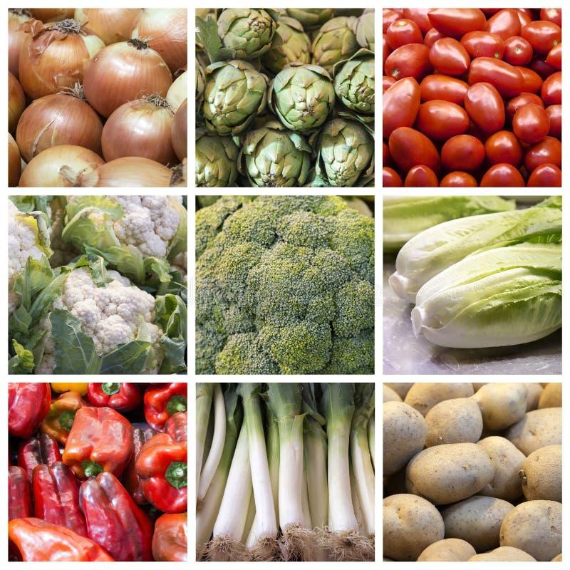 Коллаж овощей стоковое изображение rf
