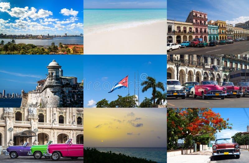 Коллаж от Гаваны Кубы стоковые изображения