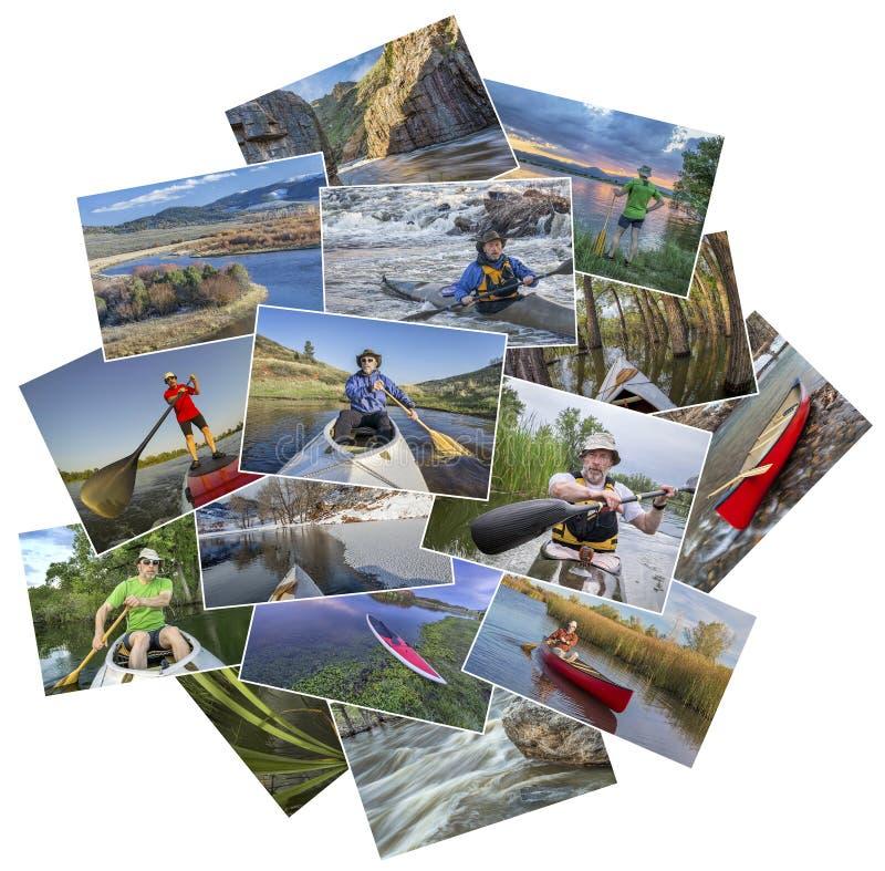 Коллаж полоскать изображения от Колорадо стоковые фото
