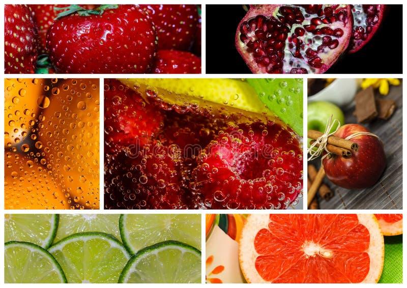 Коллаж плодоовощ стоковое изображение rf