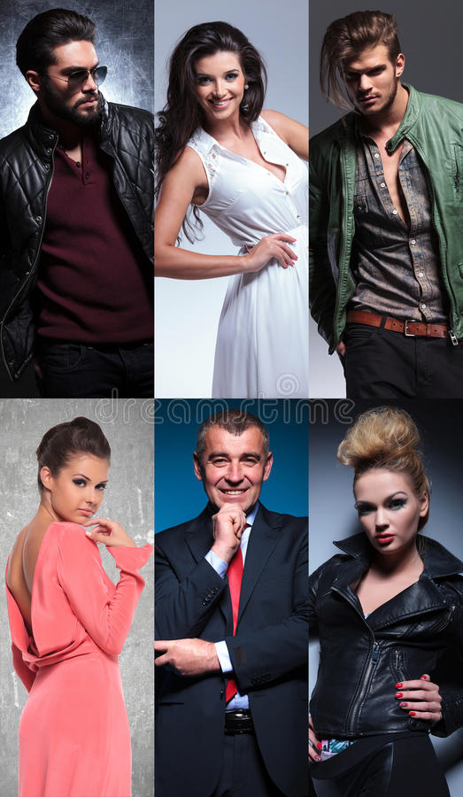 Коллаж различных людей стоковое изображение rf