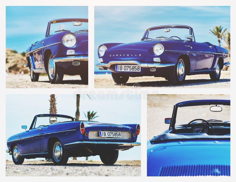 Коллаж Renault Caravelle стоковые изображения rf