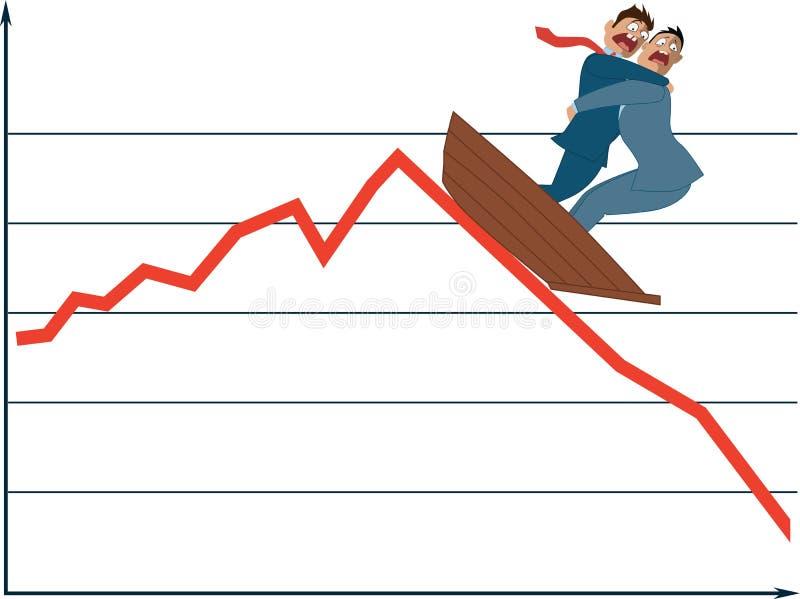Колебание рынка иллюстрация штока