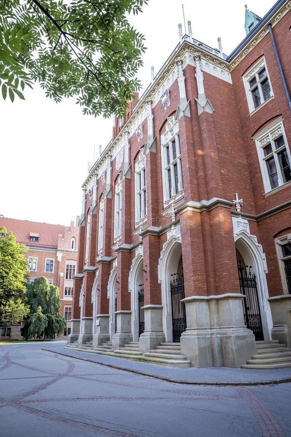 Коллегия Novum - штабы университета Jagiellonian в Kra стоковые изображения