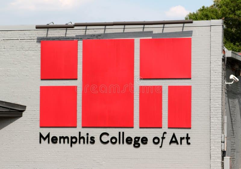 Коллеж Мемфиса знамени искусства стоковые фотографии rf