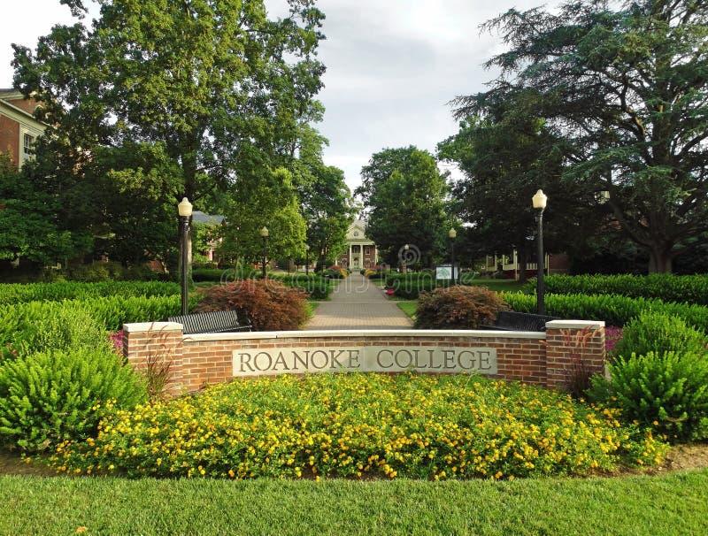Коллеж Roanoke стоковое изображение rf