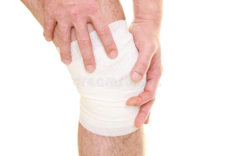 колено sprained стоковые фотографии rf