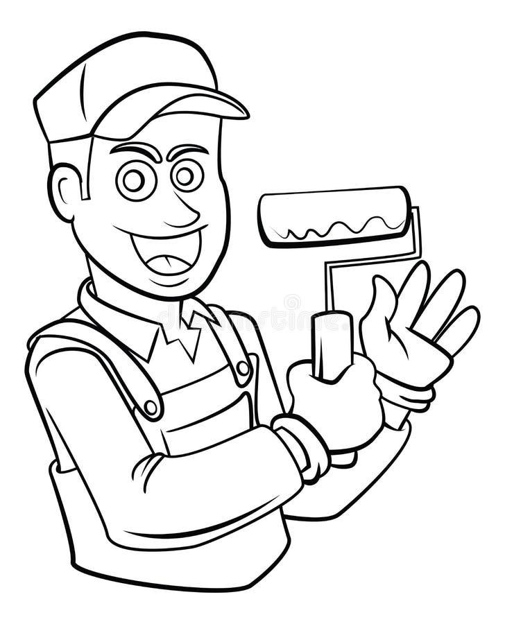 Колеривщик и оформитель бесплатная иллюстрация