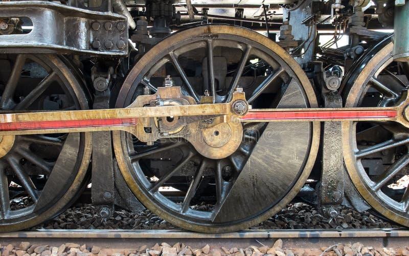 Колеса поезда пара перехода Grunge классические, винтажный стиль стоковое фото rf