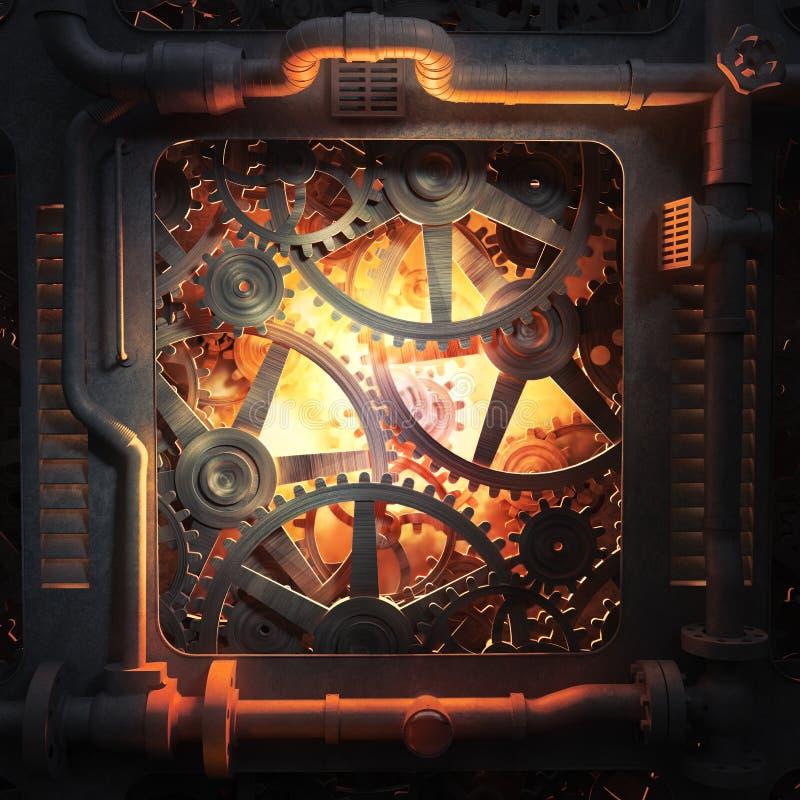 Колеса Cog и предпосылка шестерен промышленная иллюстрация вектора