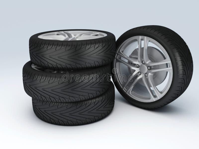 Колесо автомобиля Шприц концепции design бесплатная иллюстрация