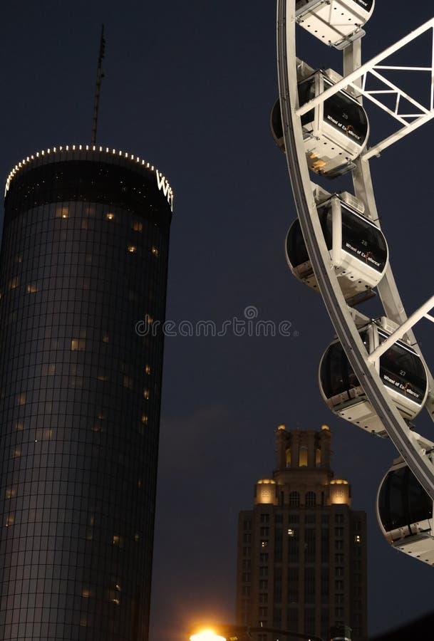 Колесо Атланты Ferris стоковое изображение