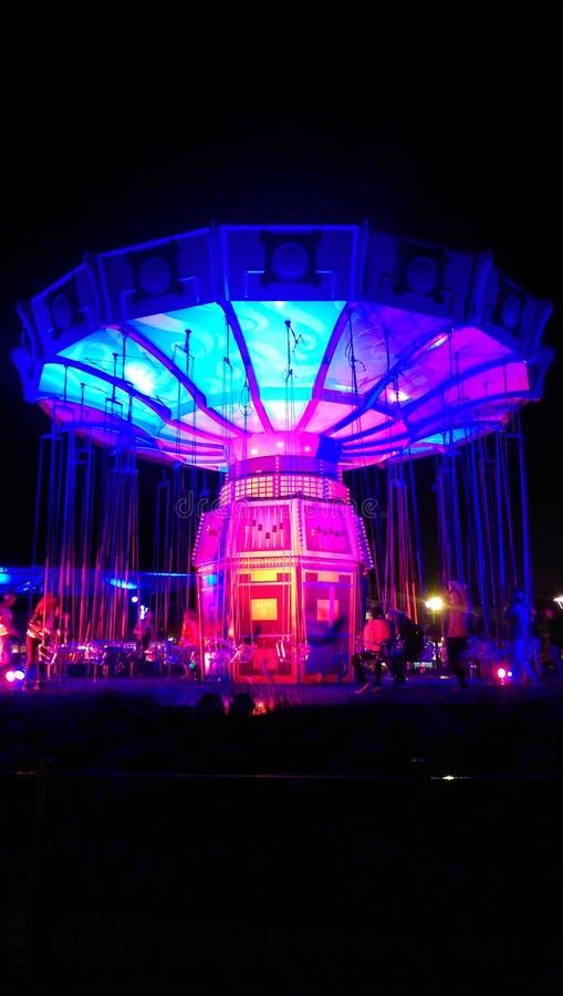 колесо вектора парка ночи ferris занятности стоковые фото