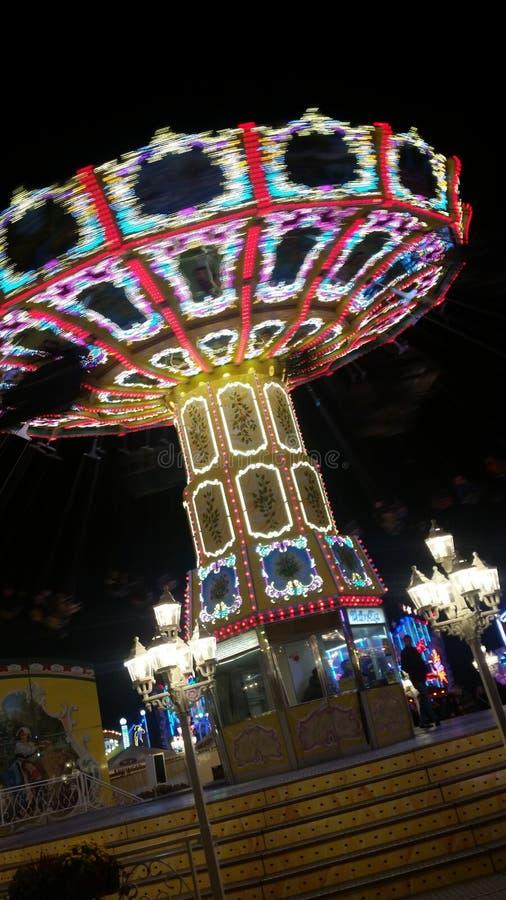 колесо вектора парка ночи ferris занятности стоковое изображение rf