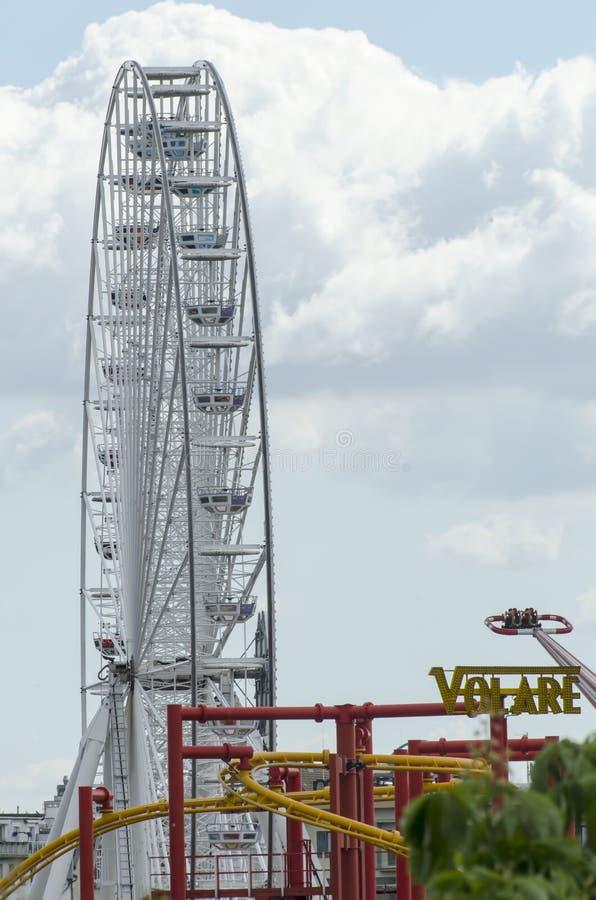 колесо вены prater парка парома гигантское стоковая фотография rf
