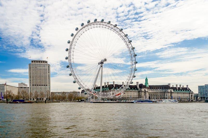 Колесо глаза Лондона панорамное стоковое фото rf