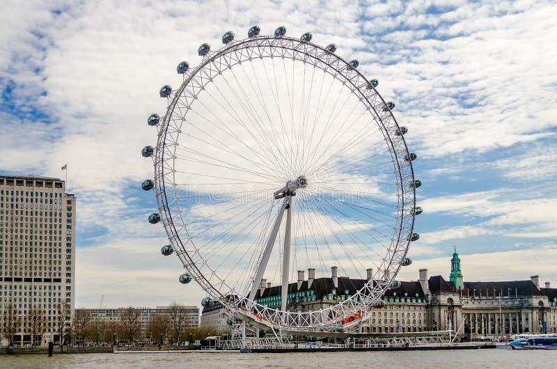 Колесо глаза Лондона панорамное стоковое изображение rf