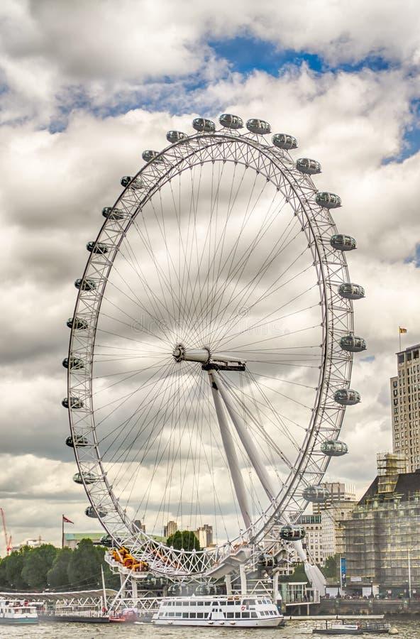 Колесо глаза Лондона панорамное стоковое фото
