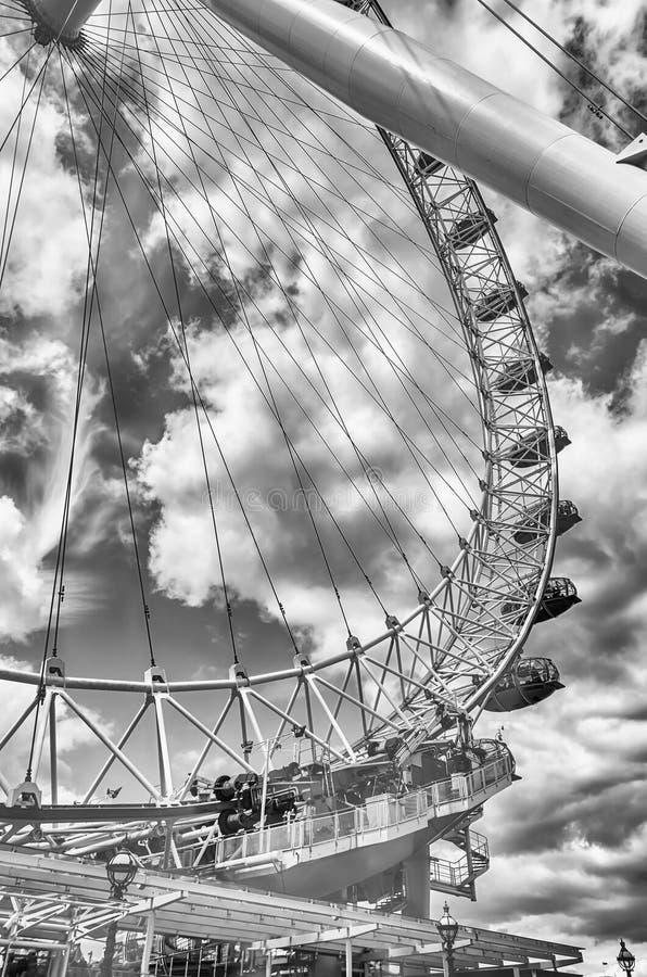 Колесо глаза Лондона панорамное стоковые изображения rf