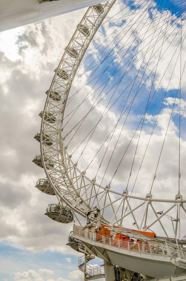 Колесо глаза Лондона панорамное стоковая фотография
