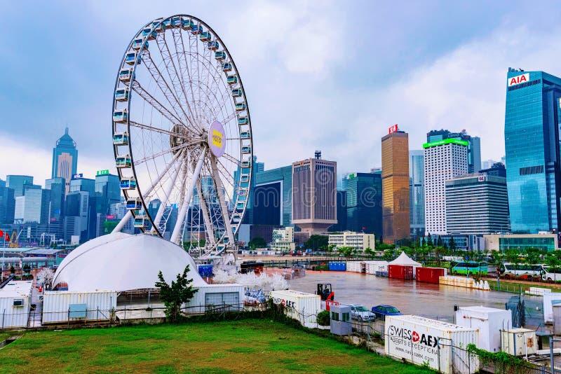 колесо замечания Гонконга стоковые фото