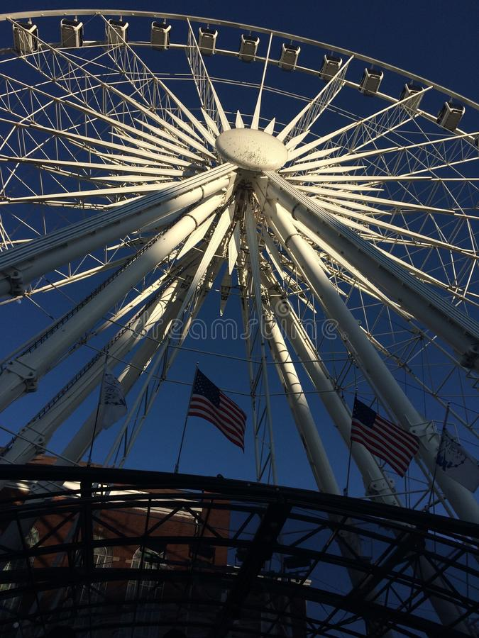 Колесо неба колеса Атланты Farris стоковые изображения