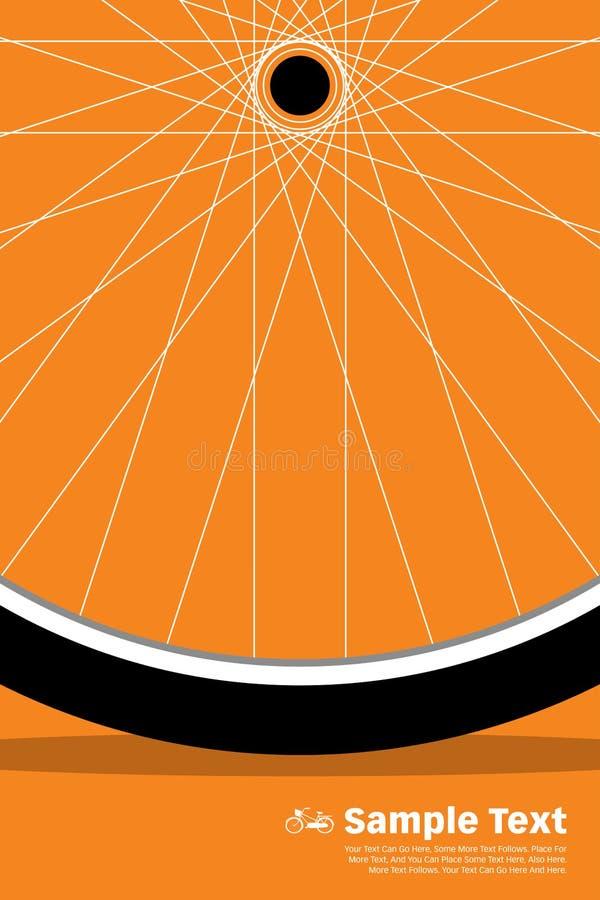 Колесо плаката велосипеда бесплатная иллюстрация